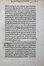 INKUNABEL BLATT GUIDO DE MONTE ROCHERII MANIPULUS CURATORUM PARIS GERING 1478