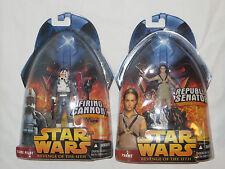2 Star Wars La Venganza De Los Sith Figuras De Acción. Nuevo. Padme, Clon Piloto 2005