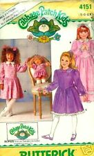 REDUCED  B 4151 CABBAGE PATCH GIRL&DOLL OUTFITS PATTERN SZ 5-6x