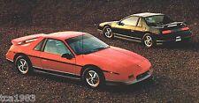 BIG 1985 Pontiac Brochure:FIREBIRD TRANS-AM,FIERO,GRAND PRIX,AM,BONNEVILLE,6000