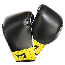 Boxing Gloves General Uses Black Red 8 to 14oz Fitness Taebo Aerobics Studio Gym