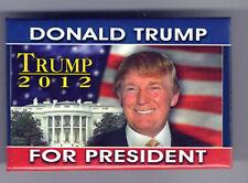 OLDER ! Donald TRUMP 2012 for PRESIDENT pin White House US FLAG pinback