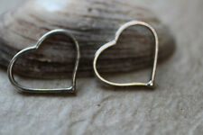 5pc Silver Heart Bracelet connector charms 1-3 day Shipping