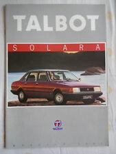 Talbot Solara brochure 1981 Italian text