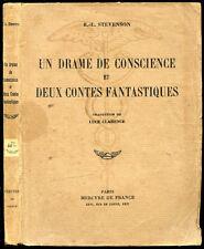 R.-L. Stevenson : UN DRAME DE CONSCIENCE et DEUX CONTES FANTASTIQUES - 1938