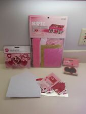 HEARTS MAILBOX DECORATING KIT+FELT ENVELOPE KIT+CHALKBOARD STICKER+COOKIECUTTER