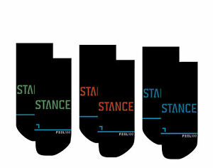 Stance Feel 100 - Prime Tab 3 Pack Volt-Multi/Black Ankle Socks A256A20ATH-VLT