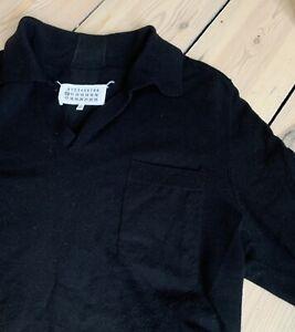 Maison Martin Margiela - V Neck Polo Long Sleeve (black)