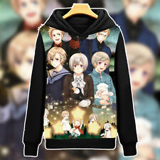 Anime Axis Powers Hetalia Black Pullover Hoodie Sweatshirt Coat Outerwear #HT-01