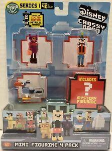 Disney Crossy Road Series 1 Mini Figure 4 Pack Honey Lemon Goofy Zazu Mystery