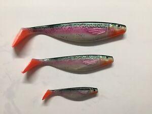 Balzer Shirasu Bloody Tail  Regenbogenforelle UV-Activ - Gummifisch
