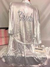 NWT Victoria's Secret Bridal White Kimono Robe Blue Swarovski Crystals One Size