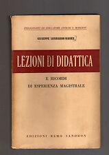 giuseppe lombardo-radice - lezioni di didattica e ricordi di esperoienza magistr