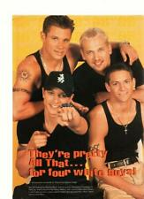 98 Degrees Nick Lachey teen magazine pinup clipping muscles Pop Star teen idols