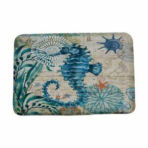 Marine Style Door Mat Floor Carpet For Living Room Sea Turtle Pattern Coral Rug