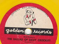 ERROR Version of Golden Records Disney's Ballad of Davy Crockett. RARE See Desc
