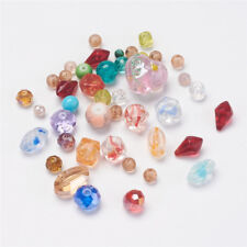 100 g Mixed Shape Glass Beads Crafts For DIY Jewelry Making 4~19x4~21x3~15mm