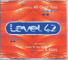 LEVEL 42 - ALL OVER YOU - 4 TRACK CD SINGLE - MINT