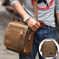 Vintage Men Bag Vogue Canvas Shoulder Bag Purse Outdoor Crossbody Travel Bag UK