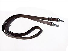 "NEW LEATHER POLICE DOG TRAINING LEAD BROWN WITH BRASS FITTING HALF INCH1/2"" WIDE"