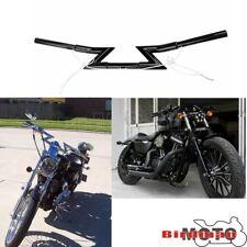 """1/"""" Guidon Fin Poignées Pour Harley Dyna Softail XL Sportster 883 1200 U1"""