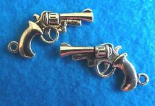 Pendant Gun Pistol Charm Policeman Cop Charm Military Charm Jewelrys Finding