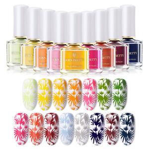 6/15ml Nail Art Stamping Polish Born Pretty Sweet Color Nail Stamp Varnish Tools