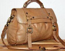 Topshop Leather Boho/Hobo Tan Satchel/Messenger/Shoulder/Grab Bag/Tote/Purse