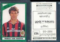 RARA FIGURINA PANINI 1987/88*MARCO VAN BASTEN-MILAN*N.163 -NEW