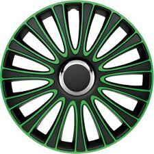 Satz Radzierblenden Radkappen LeMans 16-Zoll Schwarz/Grün Universell Audi VW BMW