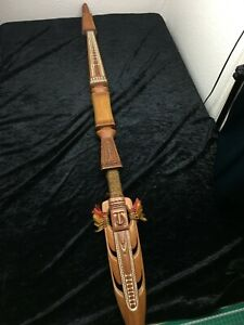 Genuine antique collectable papua new guinea tribal decorative ceremonial spear