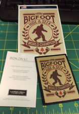 Bigfoot Hide & Seek World Champion Patch and Postcard Set - Lantern Press - Cool
