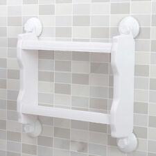 Suction Cup Bathroom Shower Shelf Toilet Kitchen Storage Basket Rack Organizer White