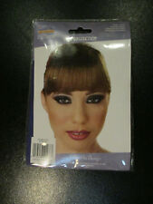 brunette CLIP ON BANGS by CALIFORNIA COSTUME - 4.5 inches