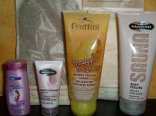 Aloe vera Body Peeling mit Massage handschuh & Pad & PROSECCO & NACHTKERZE hafer