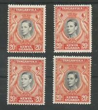 KUT SG139,139a,139b &139ba THE 4 different GVI LISTED  20c FINE MNH/MM CAT £134+