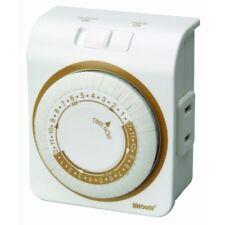 Woods 50000 Indoor 2-Prong Plug 24-Hour Mechanical Outlet Timer