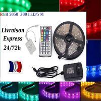 1-30m Bande LED Strip RGB Lumière Ruban 5050 SMD 60 LED/M + Télécommande 24/72H