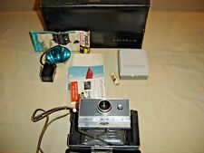 Vintage Polaroid Land Camera Automatic 100  Portrait Kit #581 Flash Attach 9433