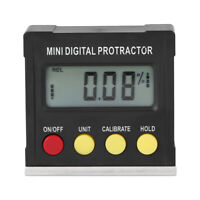 Mini Magnetic Large LCD Dislpay Protractor Gauge Level Angle Finder Inclinometer