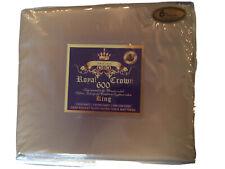 Luxury Ultra Soft 100% Egyptian Cotton 600 TC Solid Sheet Set Deep Pocket