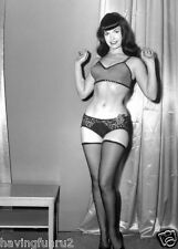 1960s Bettie Page pinup in lace panties and black stockings 8 x 10 Photographs