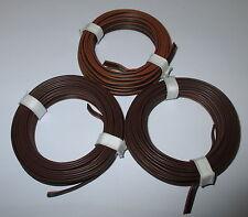 [1m = 0,53eur] drillingslitze 3x5m marrón-negro-marrón Fleischmann nuevo