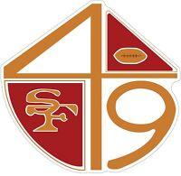San Francisco 49ers Color Die Cut Vinyl Decal Sticker - You Choose Size cornhole