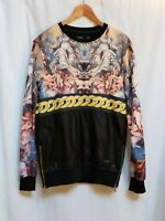 Hudson Outerwear Long Sleeve Shirt Size S Angel Cherub Black Gold