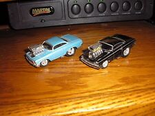 Lot of 2 1/64 Muscle Machines Blown 1960's Chevy Bel Air Impala SS Bubble Tops