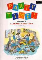 PARTY TIME FOR CLARINET & PIANO Paul Harris Sheet Music Book ABRSM Shop Soiled