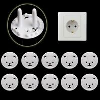 10PCS EU Plug Power Socket Outlet Mains Cover Baby Kids Safety Protector Guard