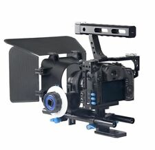 Aluminum Alloy Camera Video Cage Stabilizer Shooting Accessory with Grip Handle