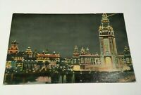 Coney Island by Night, Brooklyn, NY Color Postcard 1911 Posted